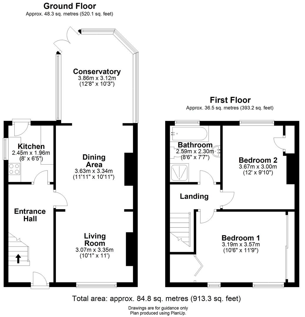 Floor plan Centre Road, Soham, Ely